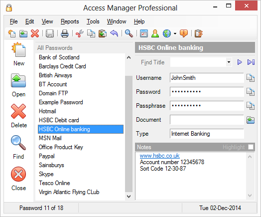 Click to view Access Manager screenshots