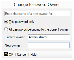 Change a password owner